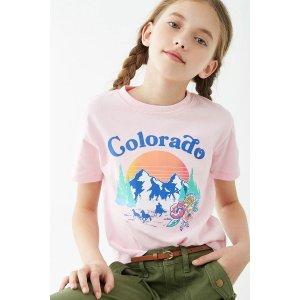 女童短袖T恤