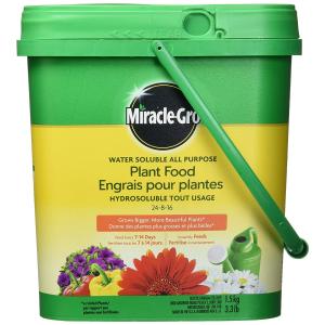 $10.98(原价$13.98)Miracle-Gro 2756910  水溶性植物复合肥料 种植鲜花蔬果必备