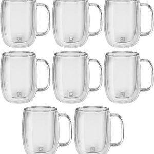 Zwilling双立人双层隔热咖啡杯8件套