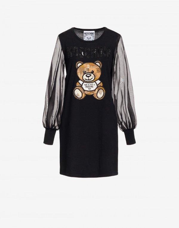 Cotton dress 小熊透视连衣裙