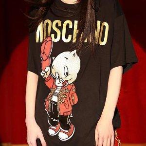 定价优势+6.5折 T恤$67白菜价:Moschino 超全款式潮衣专场 T恤、卫衣真的便宜