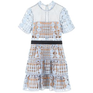 FLORAL 蕾丝连衣裙