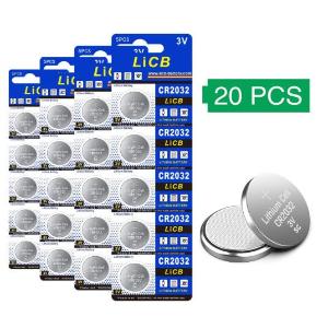 $5.05(原价$10)史低回归:LiCB CR2032 纽扣电池20粒装 耐用持久 小身材多用途
