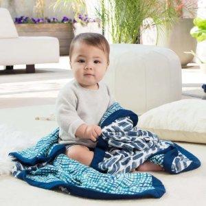 ADEN + ANAISsilky soft muslin dream blanket seaport