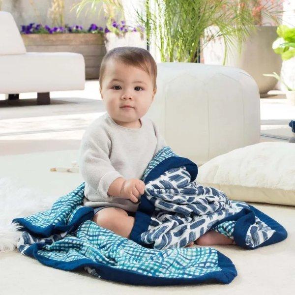 丝柔纱布毯