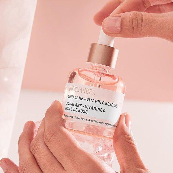 新款粉色角鲨烷VC玫瑰精油
