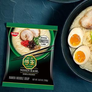 Nissin RAOH Tonkotsu Flavor Ramen Pack of 6