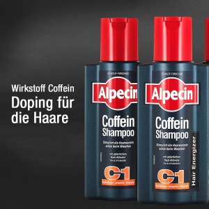 超大瓶2瓶仅€14 搭配防脱液Alpecin 咖啡因防脱洗发水 每天只要2分钟 给你换头新生