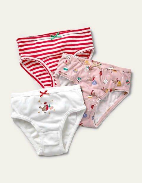 儿童圣诞图案内裤三条装
