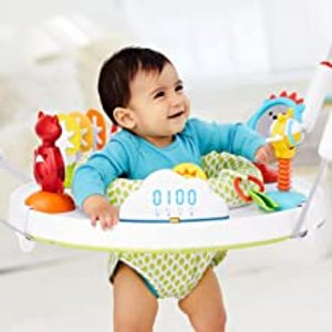 $114(原价$151.96)史低价:Skip Hop 可折叠婴儿跳跳椅 伴随音乐 360度旋转起来