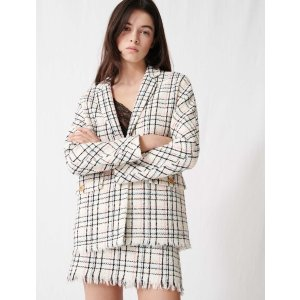 Maje220VIANEY Checked tweed-style jacket