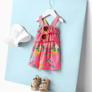 清仓区$4.89起 封面$6.39折扣升级:Carter's官网 儿童连衣裙2.5折起,女孩每天都爱穿