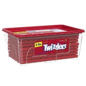 Twizzlers Bulk Strawberry Licorice Candy, 5 Pounds