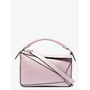 Loewepink Puzzle small leather shoulder bag | Browns