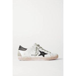 GOLDEN GOOSESuperstar distressed leather sneakers
