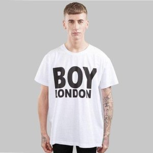 Boy London白色logoT恤