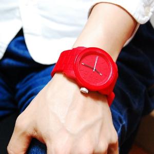 $106(原价$124)Diesel 男士硅胶手表 大红配色吸睛神器 机械触感绝绝子