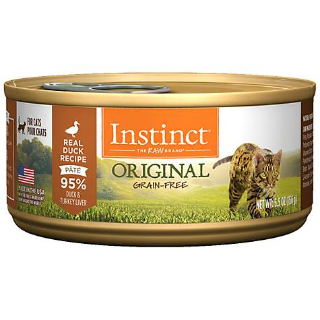 $24.18 (原价$34.80)Instinct 无谷鸭肉味猫湿粮罐头 5.5oz 12罐