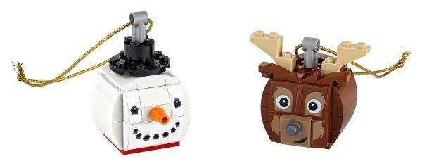雪人和驯鹿圣诞挂饰