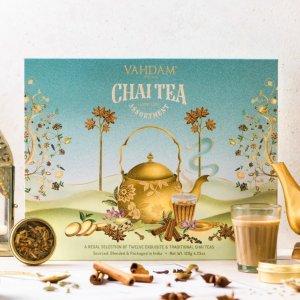 低至6折+额外8折独家:Vahdam Teas 印度红茶等圣诞礼盒限时闪促