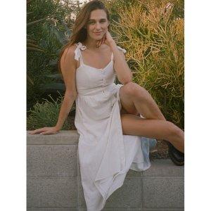 Urban Outfitters Positano Tie-Shoulder Midi Dress