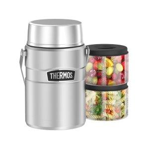 $79(原价$99.9)Thermos 焖烧杯+保鲜盒内胆*2 超大容量1.3L