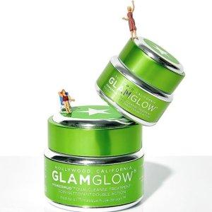 7.5折+免邮Glamglow 官网现有POWERMUD 绿瓶卸妆清洁面膜促销