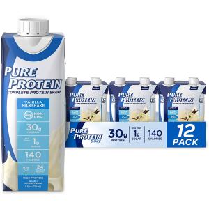 $14.66Pure Protein Vanilla Shake 30g 11oz, Pack of 12