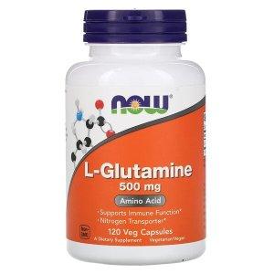 Now Foods (NOW®)L-谷氨酰胺 500 mg, 120 Veg Capsules