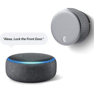 August Wi-Fi Smart Lock (Newest Model) + Echo Dot 3rd-gen
