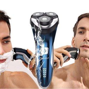 现价$26.99(原价$36.99)SweetLF IPX7 防水电动剃须刀