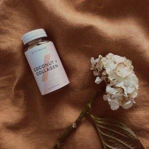 限时5.5折!仅€9.89/瓶My Vitamins 椰子胶原蛋白胶囊 抗氧化 减缓衰老 越吃越年轻