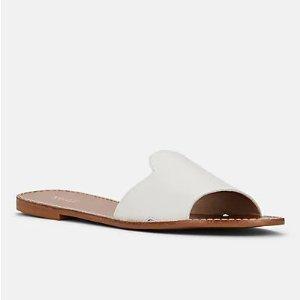 Barneys New York白色拖鞋