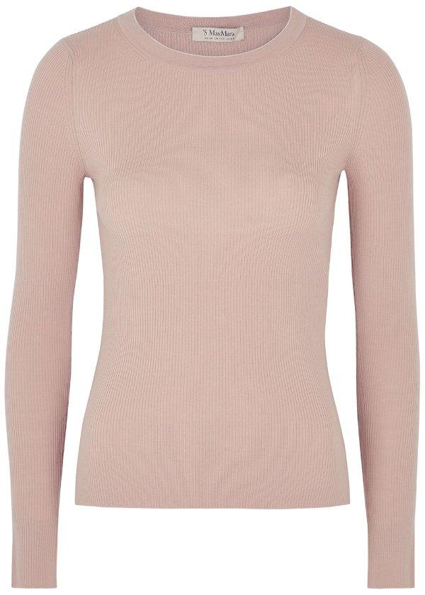 粉色羊毛毛衣