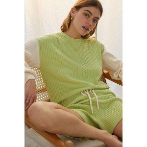 鲜草绿针织家居服套装
