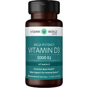 VITAMIN WORLDBOGO + 30% Off $150Vitamin D3 5000 IU | D Vitamins | Vitamin World
