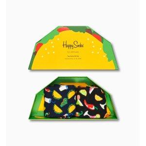 Happy Socks$50享9折,$65享8.5折Taco 袜子礼盒 2-Pack