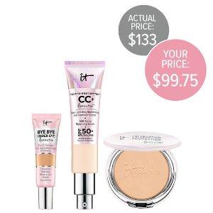 CC霜+粉饼+眼部遮瑕套装(价值$133)