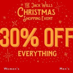 全场7折 £34收卫衣 购衣扮靓趁现在Jack Wills 全场男女秋冬服饰无门槛大促