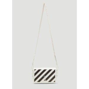 Off-WhiteDiagonal Binder Clip Shoulder Bag in White