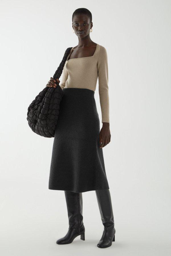 羊毛半身裙