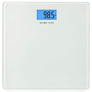 $4.59BalanceFrom Digital Body Weight Bathroom Scale with Step-On Technology and Backlight Display, 400 Pounds, Silver @ Amazon
