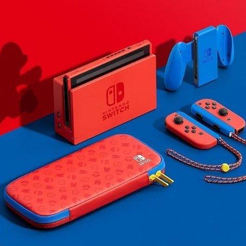 7.6折起 £299收马里奥限定红蓝配色Nintendo Switch 经典红蓝机、限定款 动森、马里奥赛车都有