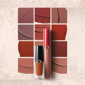 送中样5件套 + 立减$15 + 返券$20Giorgio Armani 全线美妆热卖 买不够的丝绒唇釉