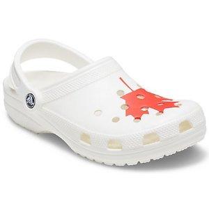 Crocs加拿大枫叶洞洞鞋