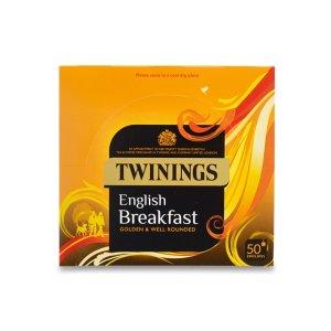 Twinings英式早餐茶包 50包