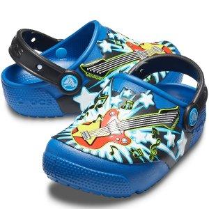 额外6折 $24收封面闪灯款Crocs 官网 精选夏季儿童洞洞鞋促销