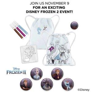 11月9日免费参加迪士尼Frozen2主题活动预告:JCPenney 儿童区免费手工活动 同时预告12月活动