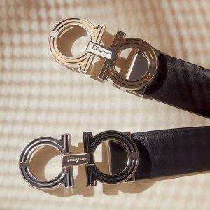 全场78折 双色logo腰带€230收菲拉格慕 五月大促 经典logo腰带、蝴蝶结芭蕾鞋、腋下包好价收