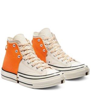Conversex Feng Chen Wang 合二为一帆布鞋-橙白
